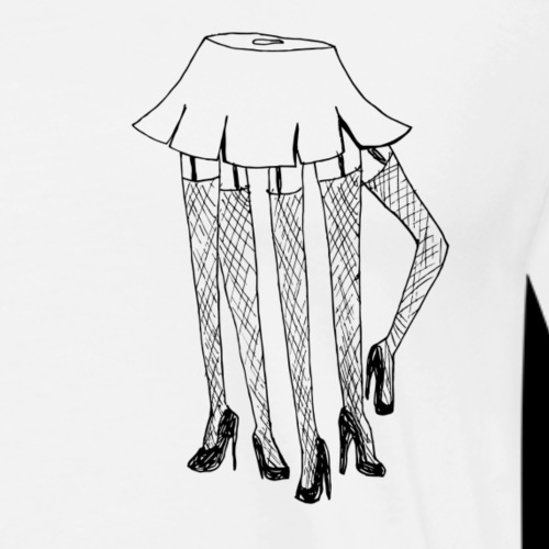 Spinnenschulmädchen in Minirock - Männer Premium T-Shirt