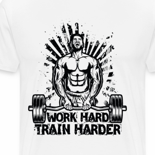 Work Hard / Train Harder - Männer Premium T-Shirt