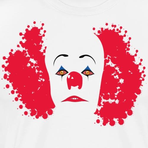 Zło clown IT - Koszulka męska Premium