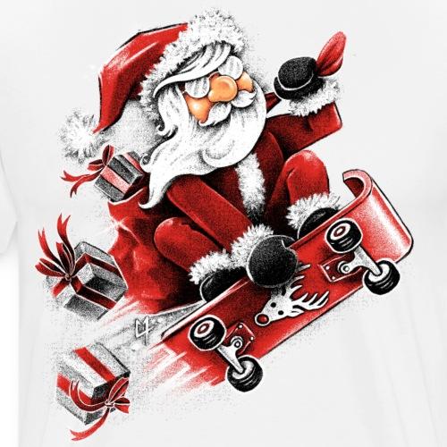 Santa Skateboarding - Men's Premium T-Shirt