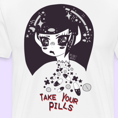 TAKE YOUR PILLS gray - Men's Premium T-Shirt