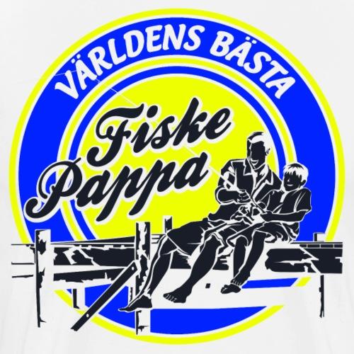 Världens Bästa Fiske Pappa - Premium-T-shirt herr