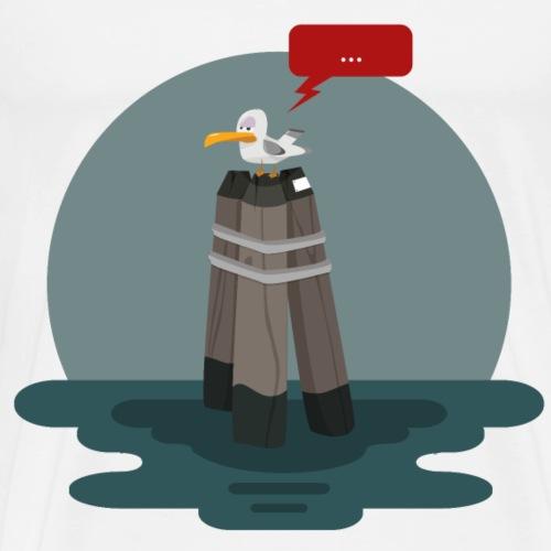 Lazy Seagull - Maglietta Premium da uomo