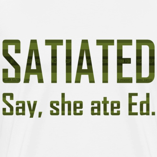 SATIATED avocado - Men's Premium T-Shirt