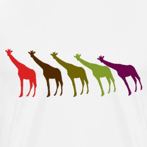 Giraffen im Wind - Männer Premium T-Shirt