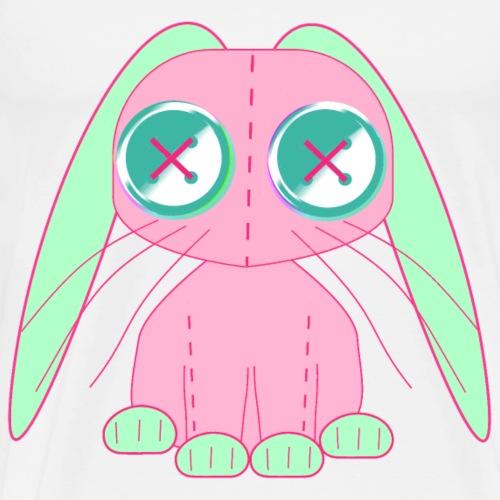 tygkanin rosa och grön med stygn synliga - Men's Premium T-Shirt