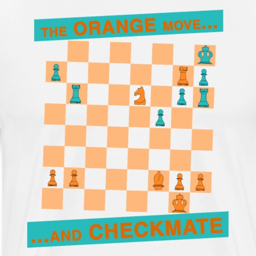 The ORANGE move… and CHECKMATE - Morphy - Maglietta Premium da uomo