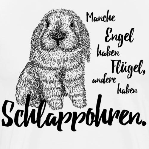 Engel Flügel Schlappohren Kaninchen Zwergwidder - Männer Premium T-Shirt