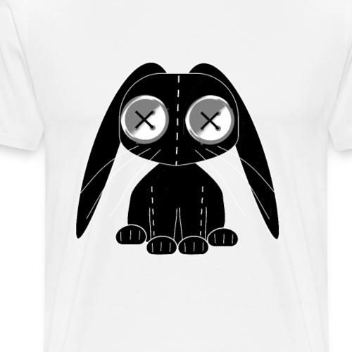 svart leksaks kanin - tygkanin med knappögon - Men's Premium T-Shirt