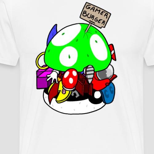 gamer burger - T-shirt Premium Homme