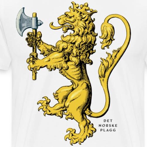 Den norske løve i gammel versjon - Premium T-skjorte for menn