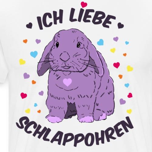 Ich liebe Schlappohren Kaninchen Zwergwidder - Männer Premium T-Shirt