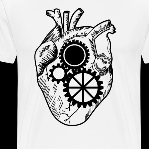 cœur en engrenage - T-shirt Premium Homme