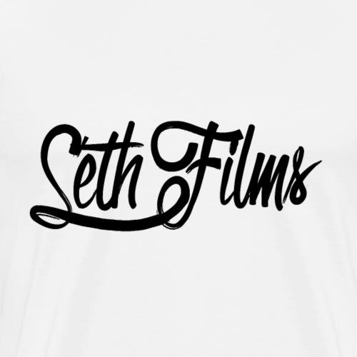SethFilms signature black png - Men's Premium T-Shirt