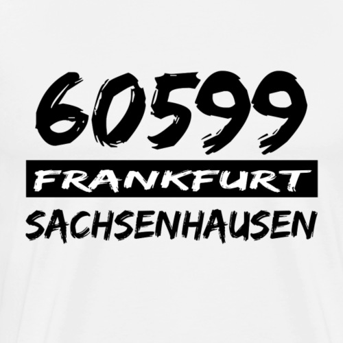 60599 Frankfurt Sachsenhausen - Männer Premium T-Shirt