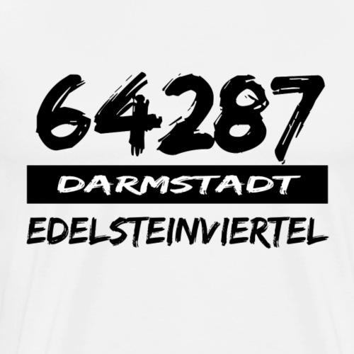 64287 Edelsteinviertel Darmstadt tshirt Hessen - Männer Premium T-Shirt