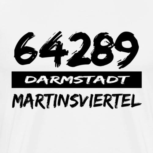 64289 Martinsviertel Darmstadt tshirt Hessen - Männer Premium T-Shirt