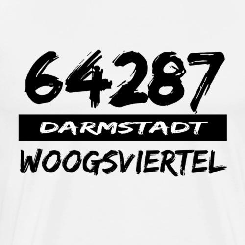 64287 Woogsviertel Darmstadt tshirt hessen - Männer Premium T-Shirt