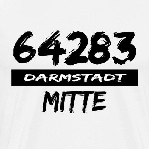 64283 Darmstadt Mitte tshirt Hessen Luisenplatz - Männer Premium T-Shirt