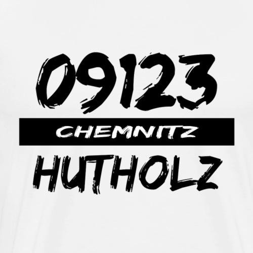 09123 Hutholz Chemnitz Heckertgebiet tshirt - Männer Premium T-Shirt
