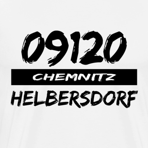09120 Helbersdorf Chemnitz Heckertgebiet tshirt - Männer Premium T-Shirt