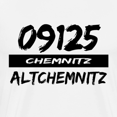 09125 Altchemnitz Chemnitz Karl-Marx-Stadt tshirt - Männer Premium T-Shirt
