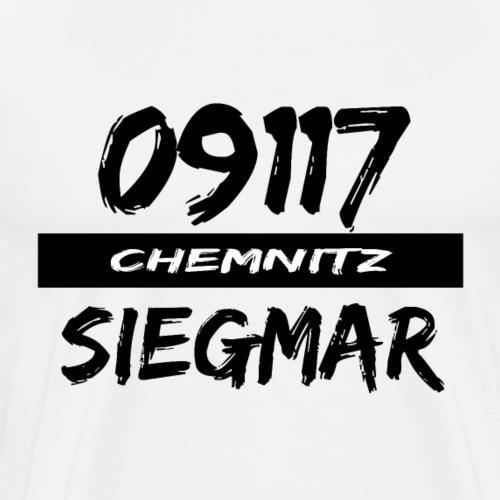 09117 Siegmar Chemnitz Karl-Marx-Stadt tshirt - Männer Premium T-Shirt