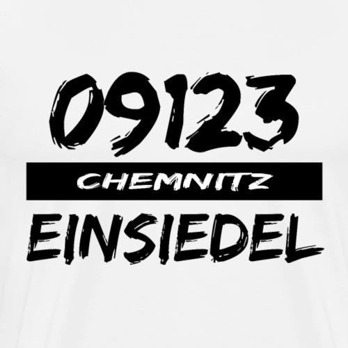 09123 Einsiedel Chemnitz Karl-Marx-Stadt tshirt - Männer Premium T-Shirt