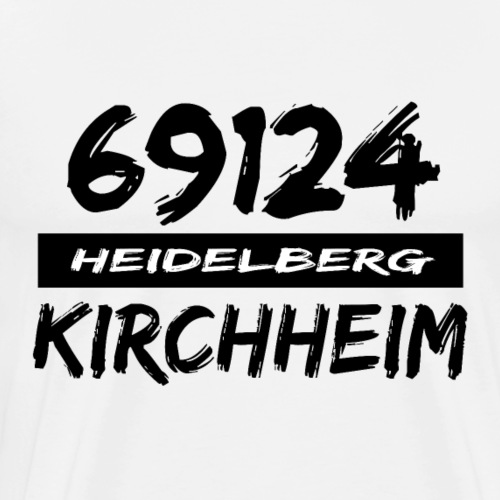 69124 Heidelberg Kirchheim - Männer Premium T-Shirt