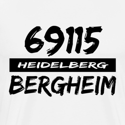 69115 Heidelberg Bergheim - Männer Premium T-Shirt