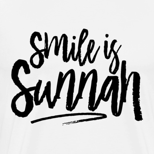 Smile is sunnah - Men's Premium T-Shirt