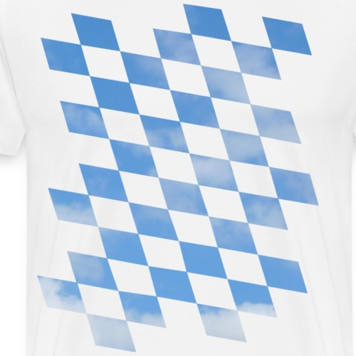 Himmlische Bayern Rauten Bayerische Fahne - Männer Premium T-Shirt