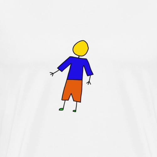 Strichfigur - Männer Premium T-Shirt