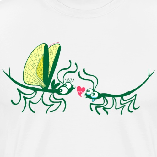 Stick insects painfully breaking their love - Men's Premium T-Shirt