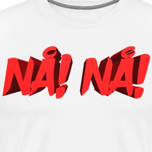 NÅ! 3D - Herre premium T-shirt