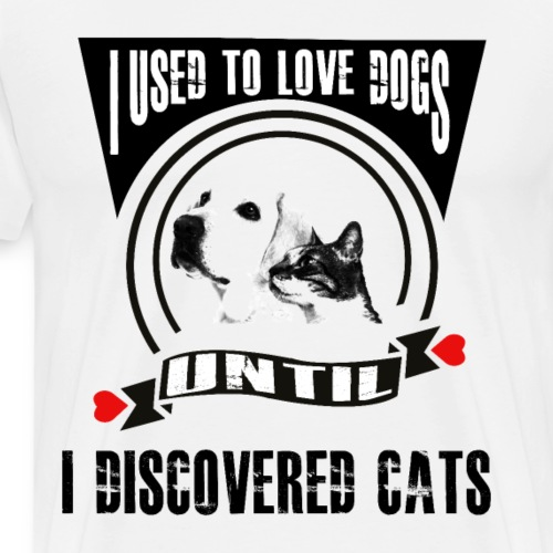 Hund Hunde Liebe Katze Katzen - Männer Premium T-Shirt