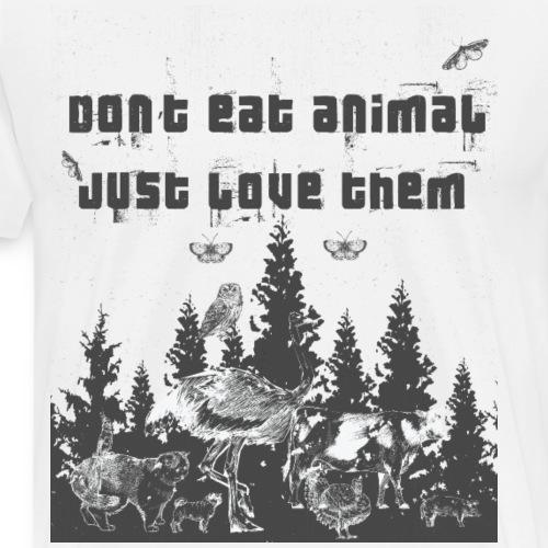 Tier Tiere Liebhaber Vegan Vegetarier Veganer - Männer Premium T-Shirt