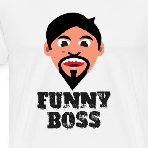 Lustiger Boss Chef Vorgesetzter Teamleiter - Männer Premium T-Shirt