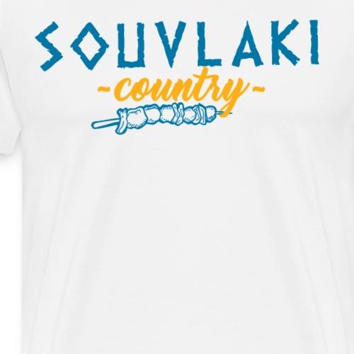 Souvlaki Land Griechenland Mahlzeit Essen Grillen - Männer Premium T-Shirt