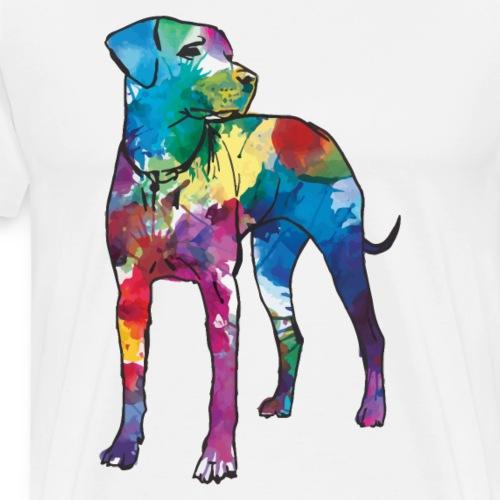 Labrador Hund Hunde bunte Silhouette - Männer Premium T-Shirt