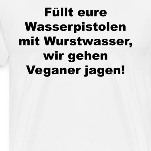 Wasserpistole mit Wurstwasser füllen - Männer Premium T-Shirt