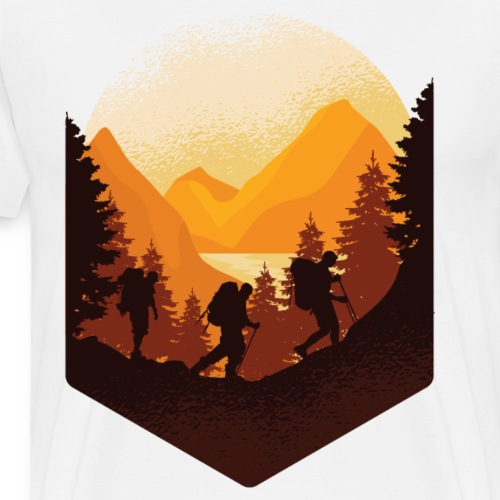Beste Wanderer Designs online - Männer Premium T-Shirt