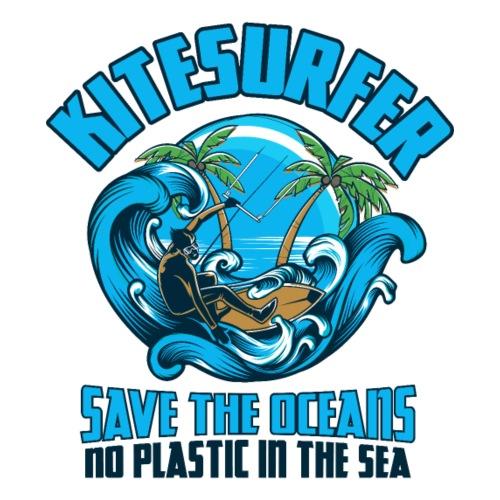 Kitesurfer - Save the oceans - Kein Plastik