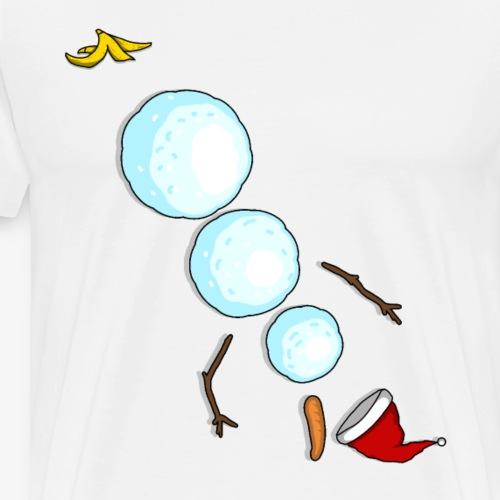 Lustiger schneemann guten rutsch ins neue jahr - Männer Premium T-Shirt