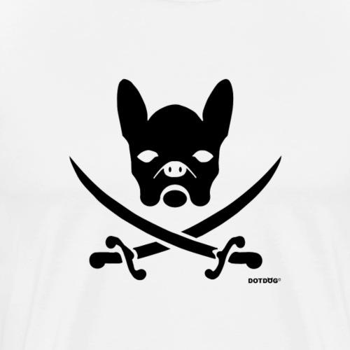 schwarz Bulldoge Pirat - Männer Premium T-Shirt