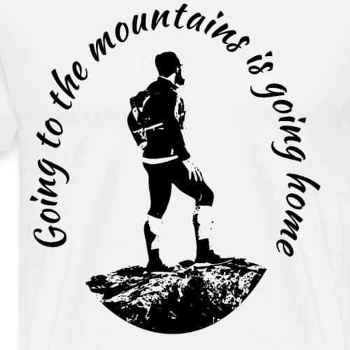 Wanderer Mountain Bergwandern Gipfelstürmer Shirt - Männer Premium T-Shirt
