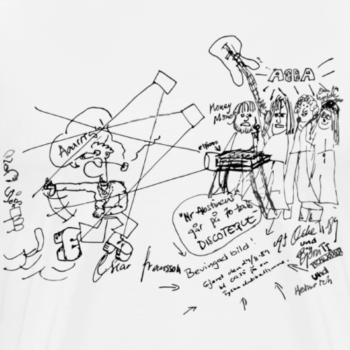Mr. Abstinens går på 70-tals DISCOTEQUE - Premium-T-shirt herr