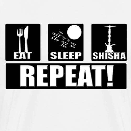 Eat, Sleep, Shisha - Repeat - Männer Premium T-Shirt