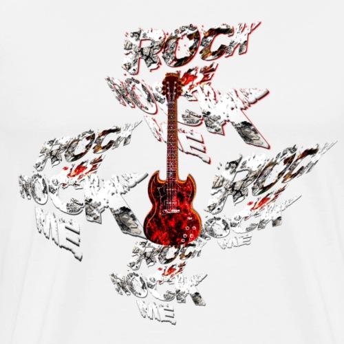 Rock Me mit Gitarre - Männer Premium T-Shirt