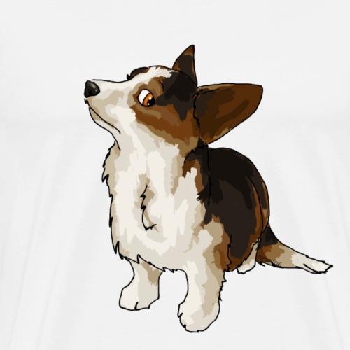 Corgi tricolore - T-shirt Premium Homme